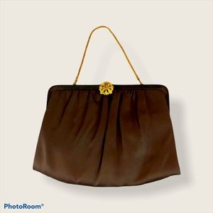 Brown satin Ande' bag.